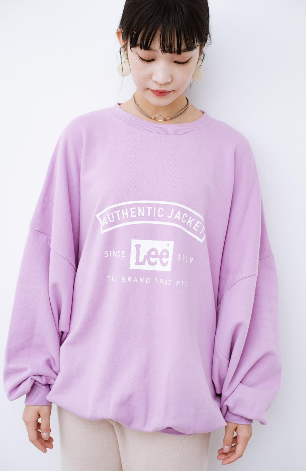 haco! Lady Lee メンズライクなだぼっとサイズ マカロンカラーが可愛いプルオーバー <ラベンダー>の商品写真1