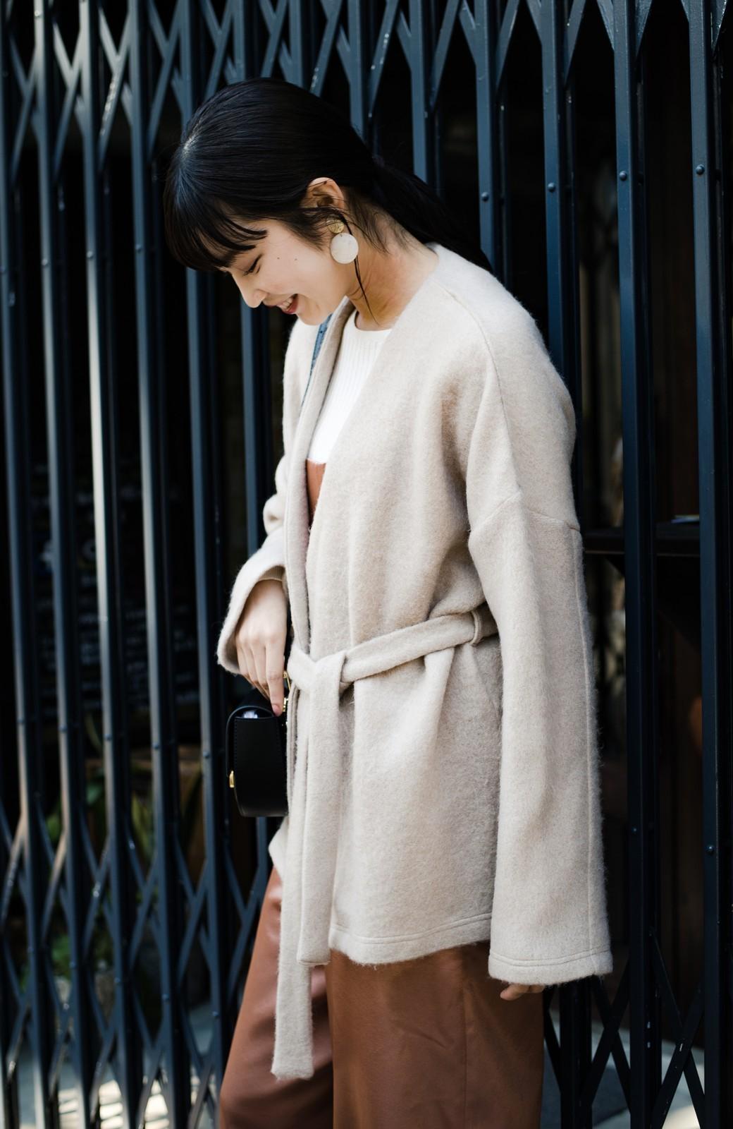 haco!  ぱっと羽織って今っぽい! ふわっと素材が気持ちいい軽やかコート <ベージュ>の商品写真2