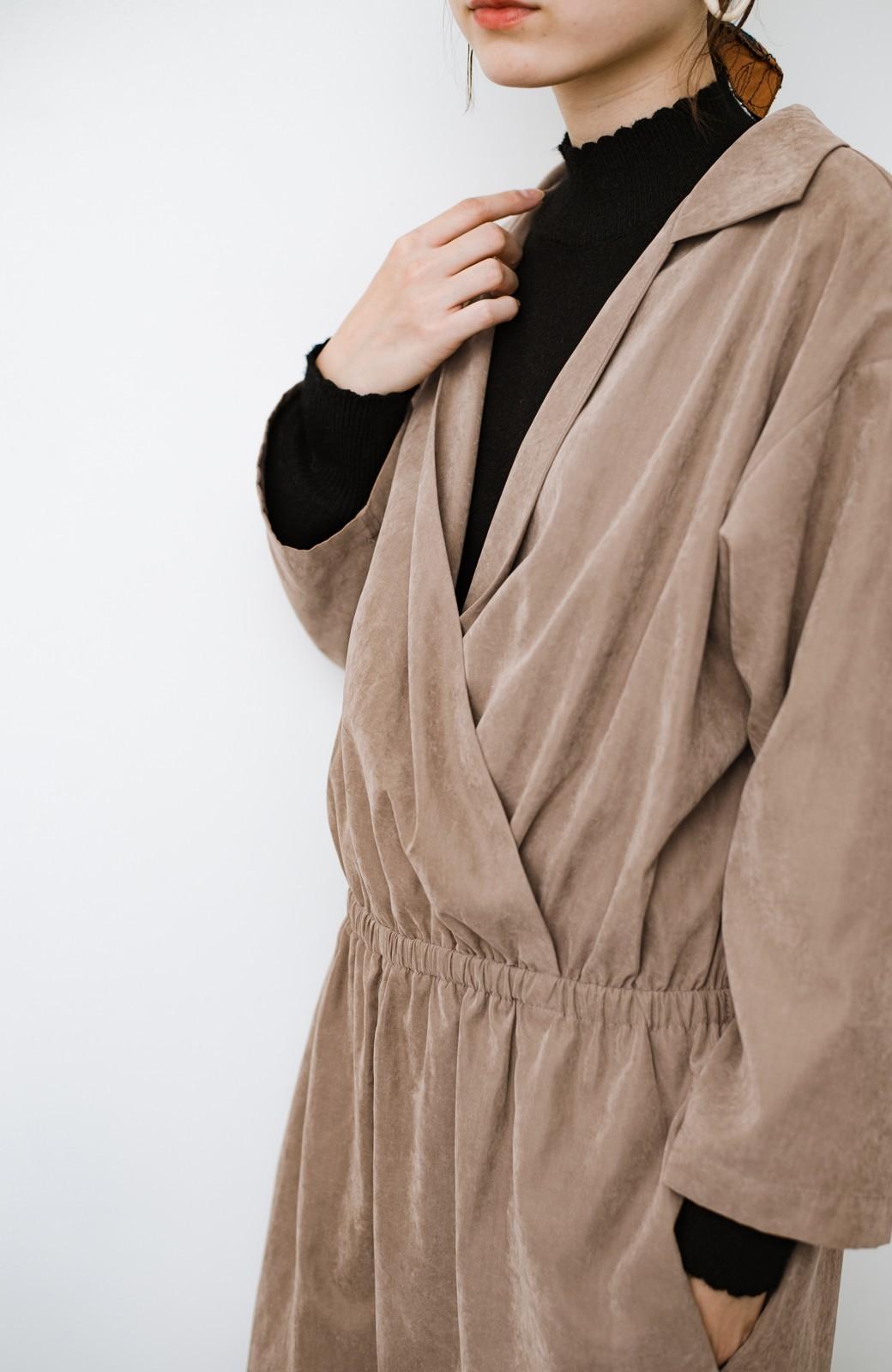 haco! パッと着るだけで楽ちんなのにオシャレ度が増す!大人のためのオールインワン <ライトブラウン>の商品写真3
