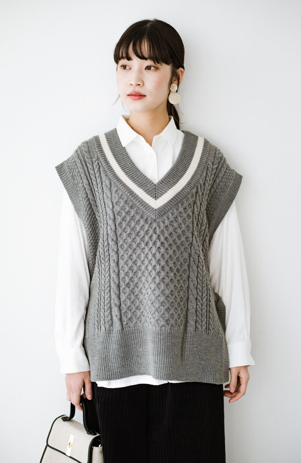 haco! ニットとのこなれた重ね着が簡単にできる!なめらか素材でつくった大人のためのシンプルシャツ <ホワイト>の商品写真22