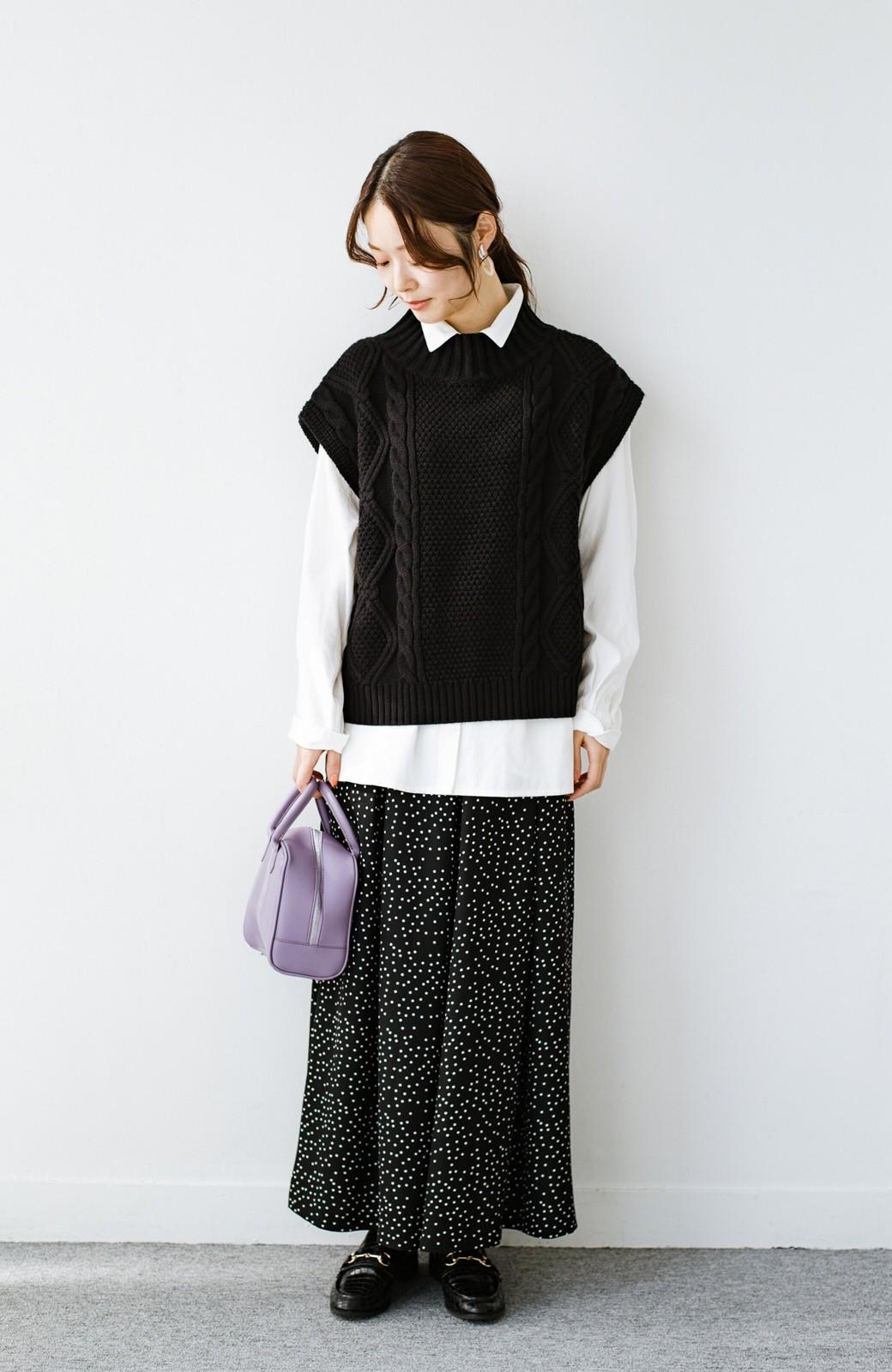 haco! ニットとのこなれた重ね着が簡単にできる!なめらか素材でつくった大人のためのシンプルシャツ <ホワイト>の商品写真13