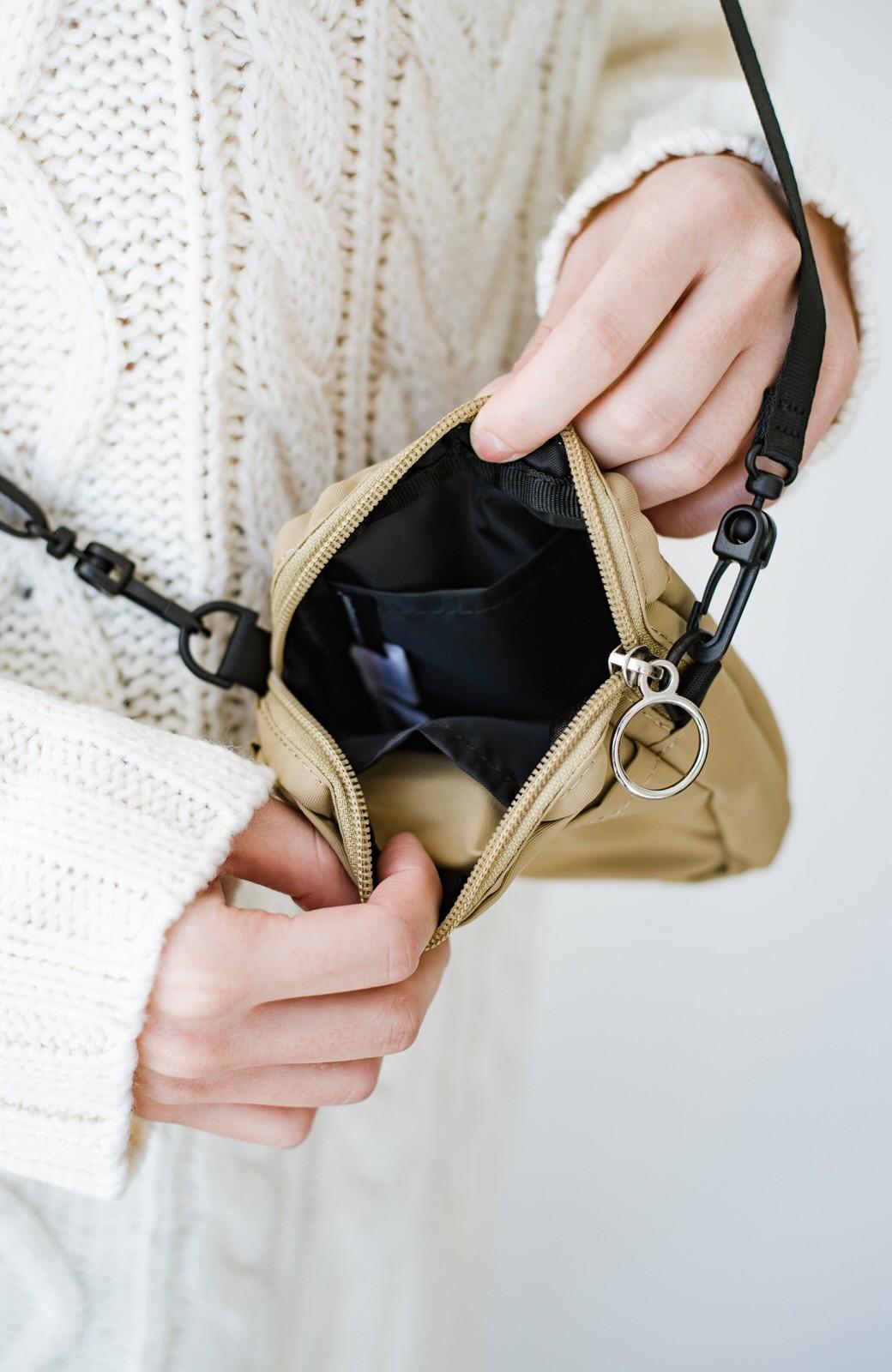 haco! anello® ワンマイルのお買い物もこれさえあれば!エコバッグ付きミニショルダー <ベージュ>の商品写真4