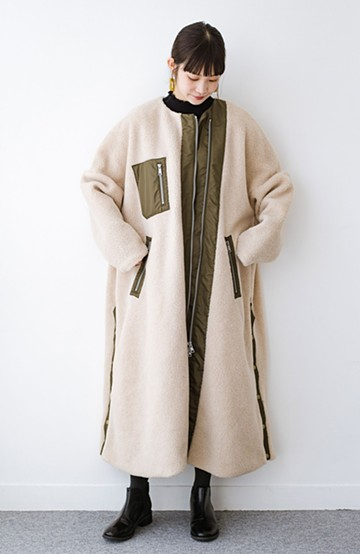 haco! F/CE.(エフシーイー) BOA SUPER LONG COAT<ベージュ>の商品写真