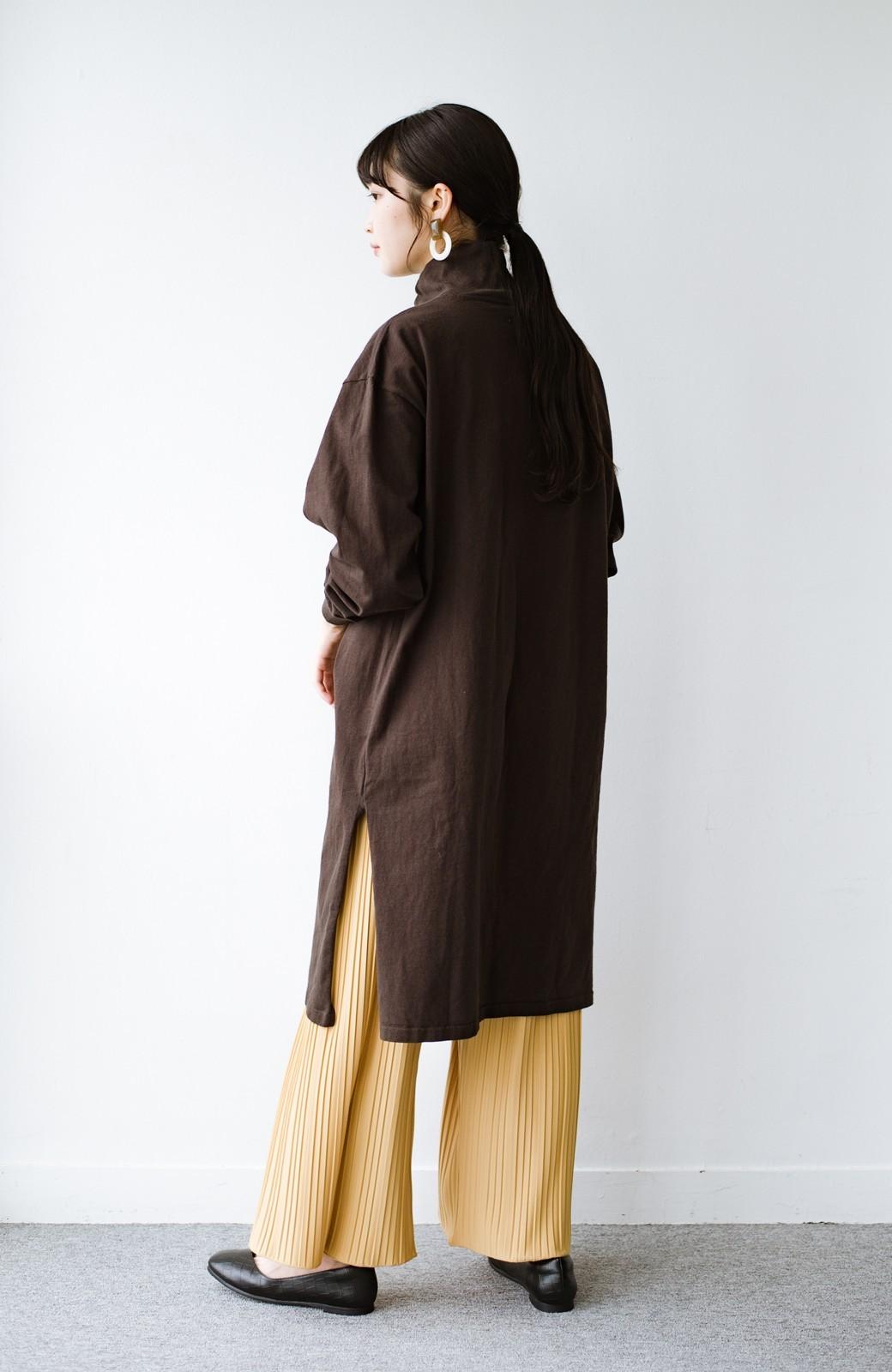 haco! パンツ派さんのデートにもカジュアル派さんの重ね着にも便利なプリーツパンツ <マスタード>の商品写真13