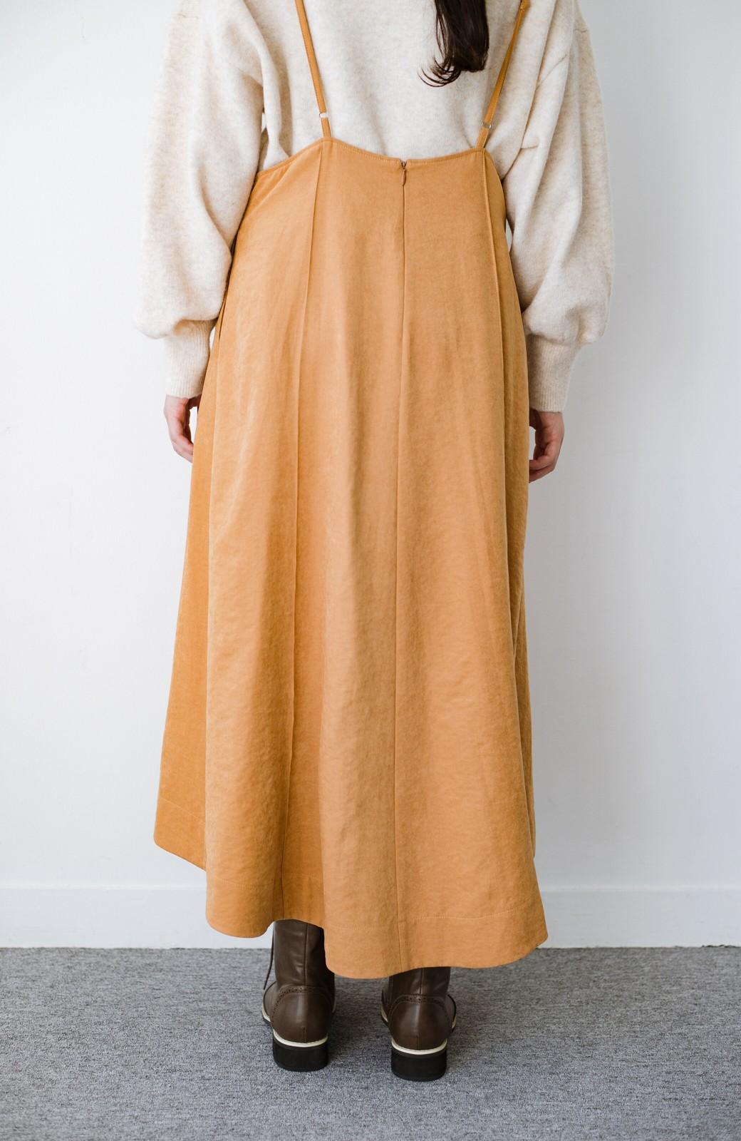 haco! トップス次第で着まわし自在! 微起毛素材があたたかみのあるキャミサロペットスカート <オレンジ>の商品写真8