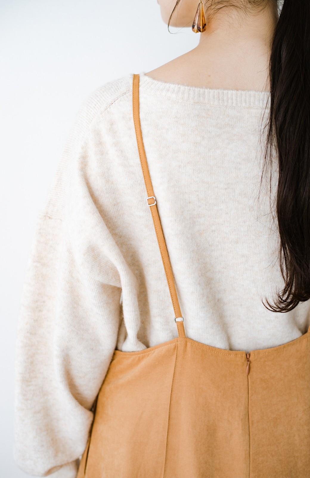 haco! トップス次第で着まわし自在! 微起毛素材があたたかみのあるキャミサロペットスカート <オレンジ>の商品写真9