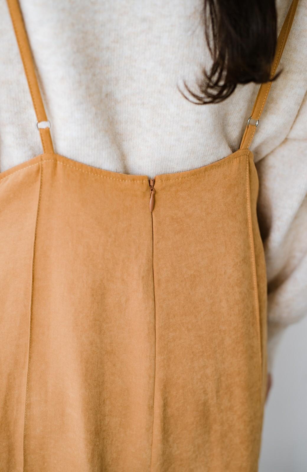 haco! トップス次第で着まわし自在! 微起毛素材があたたかみのあるキャミサロペットスカート <オレンジ>の商品写真10