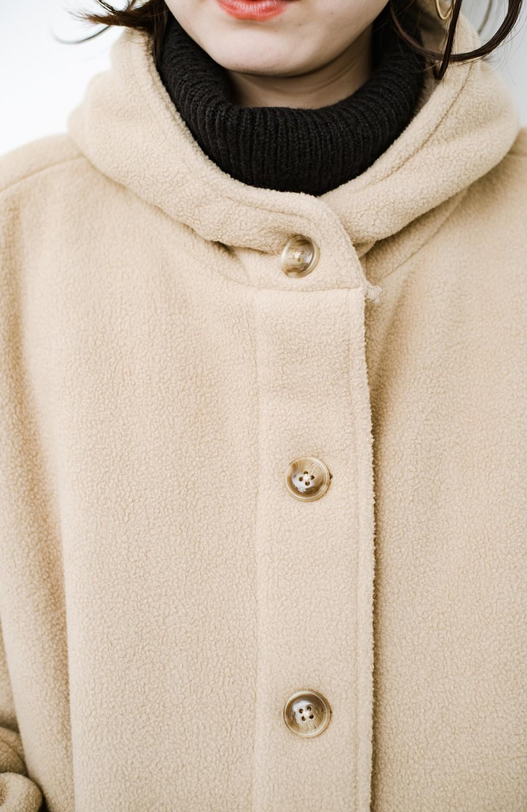 haco! さっと羽織って今っぽい ゆるっとサイズがかわいい裏起毛のあったかジャケットby Z of zampa Organic <ライトベージュ>の商品写真8