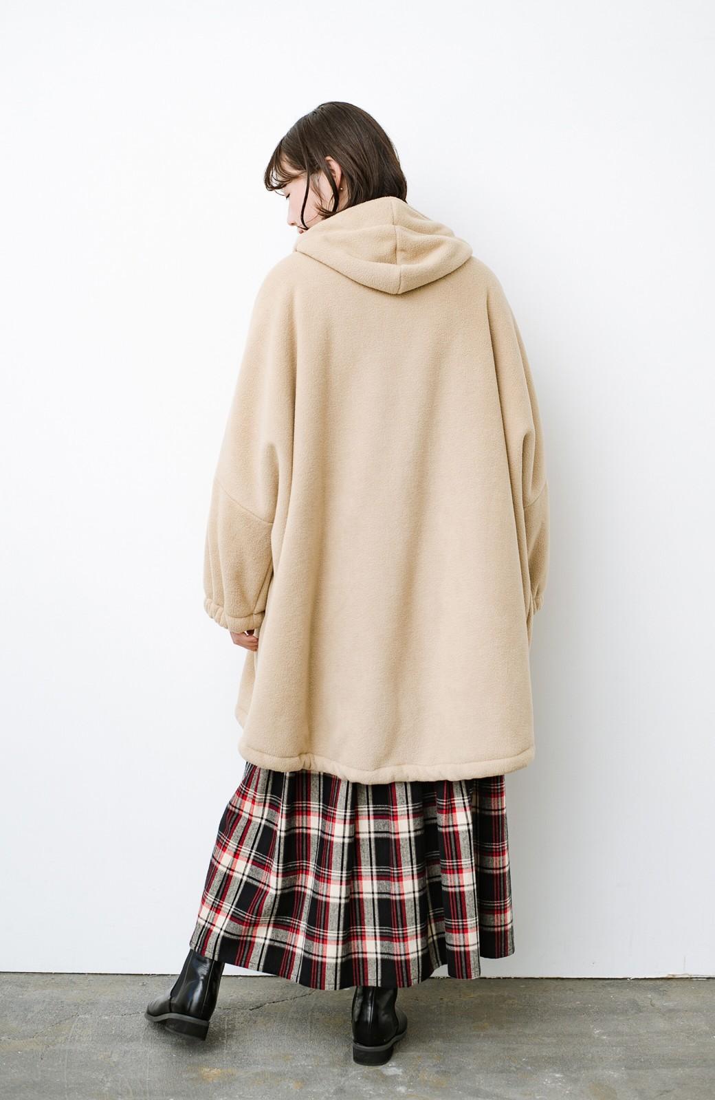 haco! さっと羽織って今っぽい ゆるっとサイズがかわいい裏起毛のあったかジャケットby Z of zampa Organic <ライトベージュ>の商品写真13