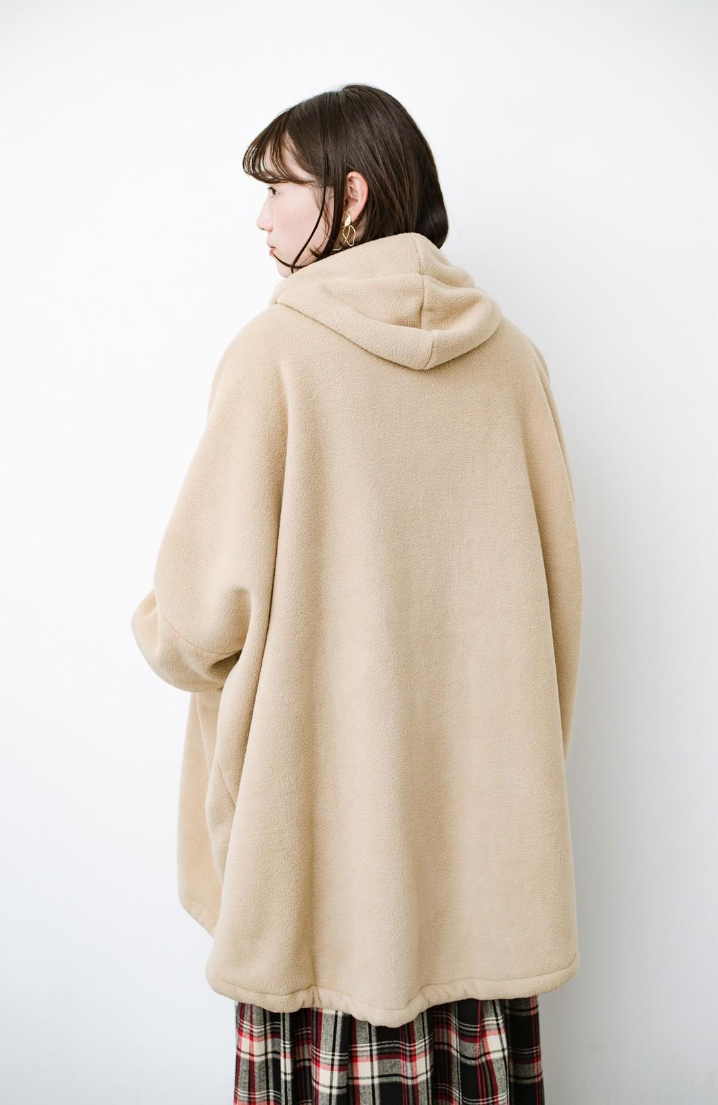 haco! さっと羽織って今っぽい ゆるっとサイズがかわいい裏起毛のあったかジャケットby Z of zampa Organic <ライトベージュ>の商品写真6