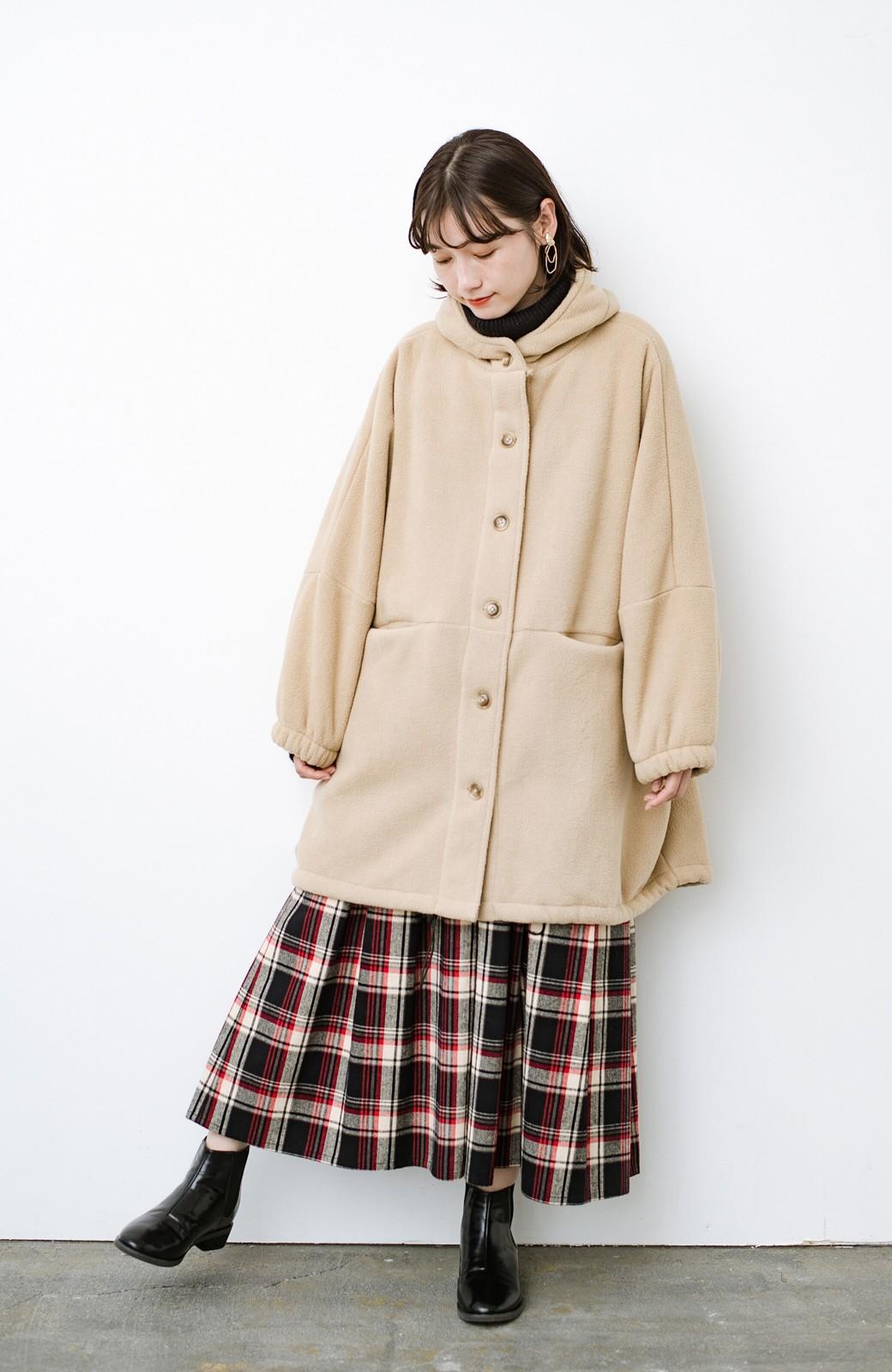haco! さっと羽織って今っぽい ゆるっとサイズがかわいい裏起毛のあったかジャケットby Z of zampa Organic <ライトベージュ>の商品写真11