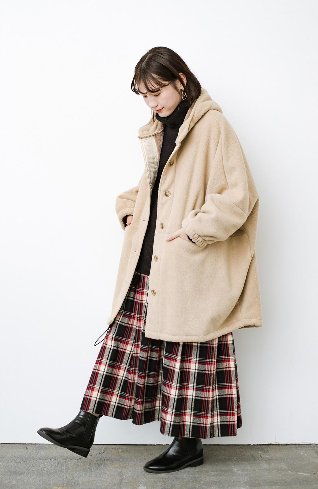 haco! さっと羽織って今っぽい ゆるっとサイズがかわいい裏起毛のあったかジャケットby Z of zampa Organic <ライトベージュ>の商品写真5