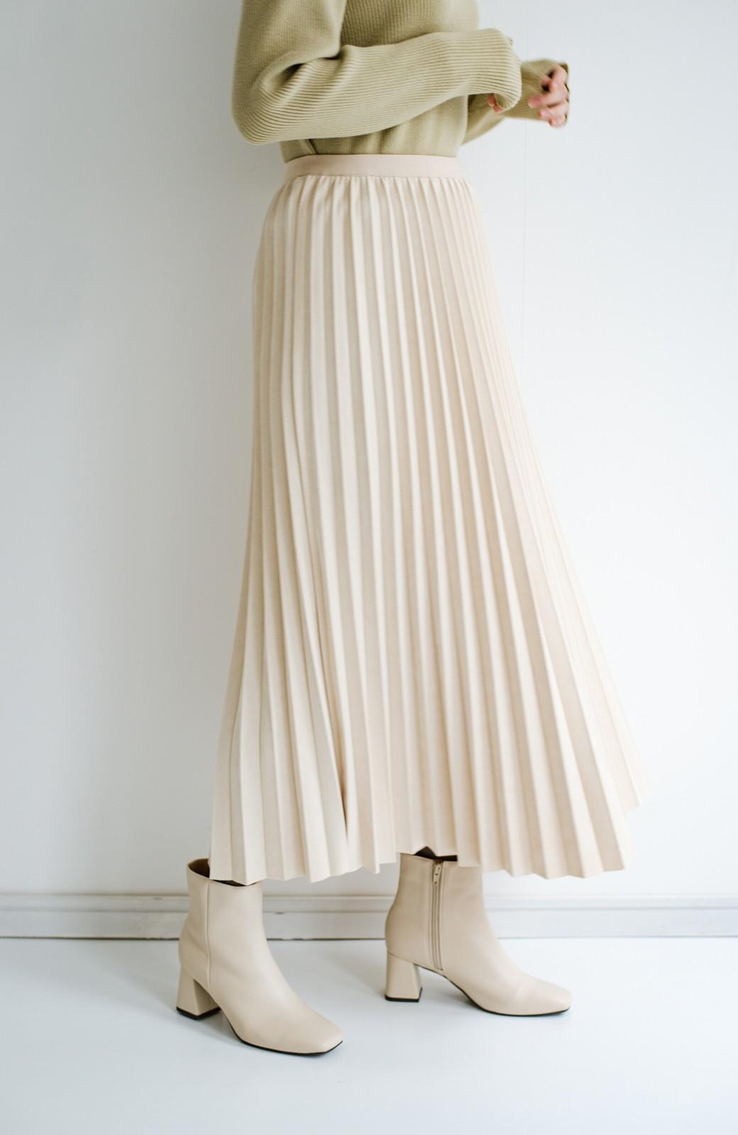 haco! たちまち旬顔!ニットにもスウェットにも似合うフェイクスエードのプリーツスカート by Nohea <アイボリー>の商品写真5