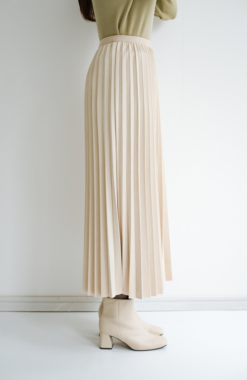 haco! たちまち旬顔!ニットにもスウェットにも似合うフェイクスエードのプリーツスカート by Nohea <アイボリー>の商品写真6