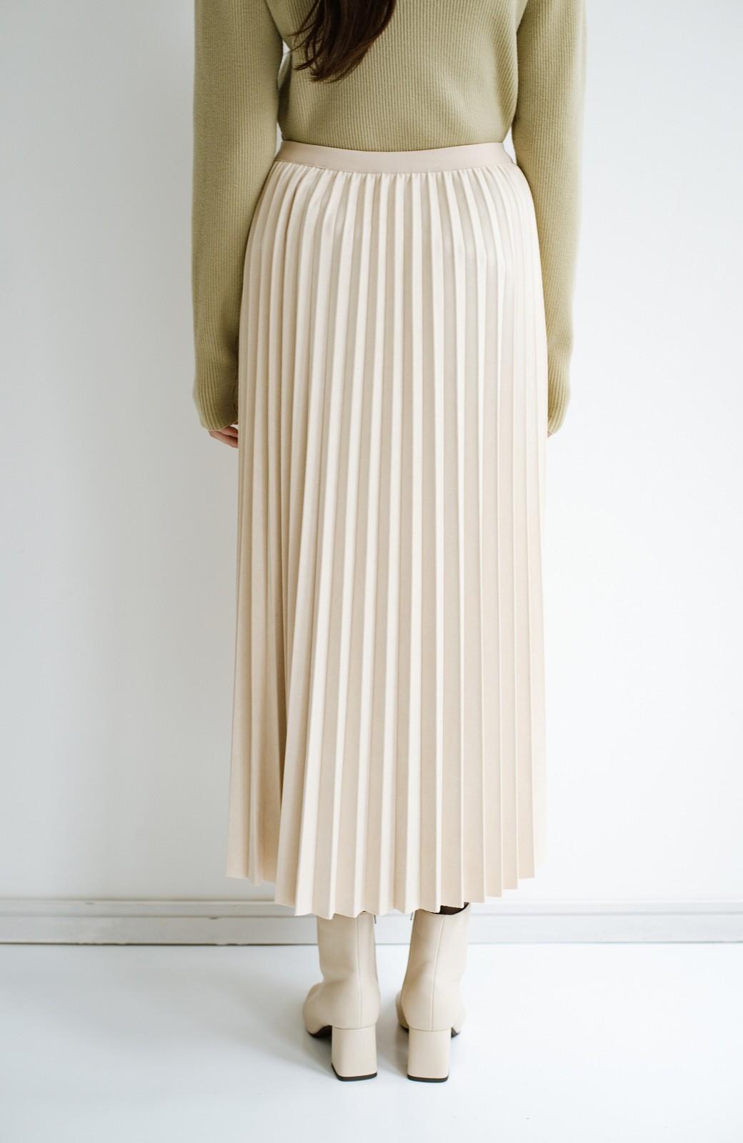 haco! たちまち旬顔!ニットにもスウェットにも似合うフェイクスエードのプリーツスカート by Nohea <アイボリー>の商品写真7