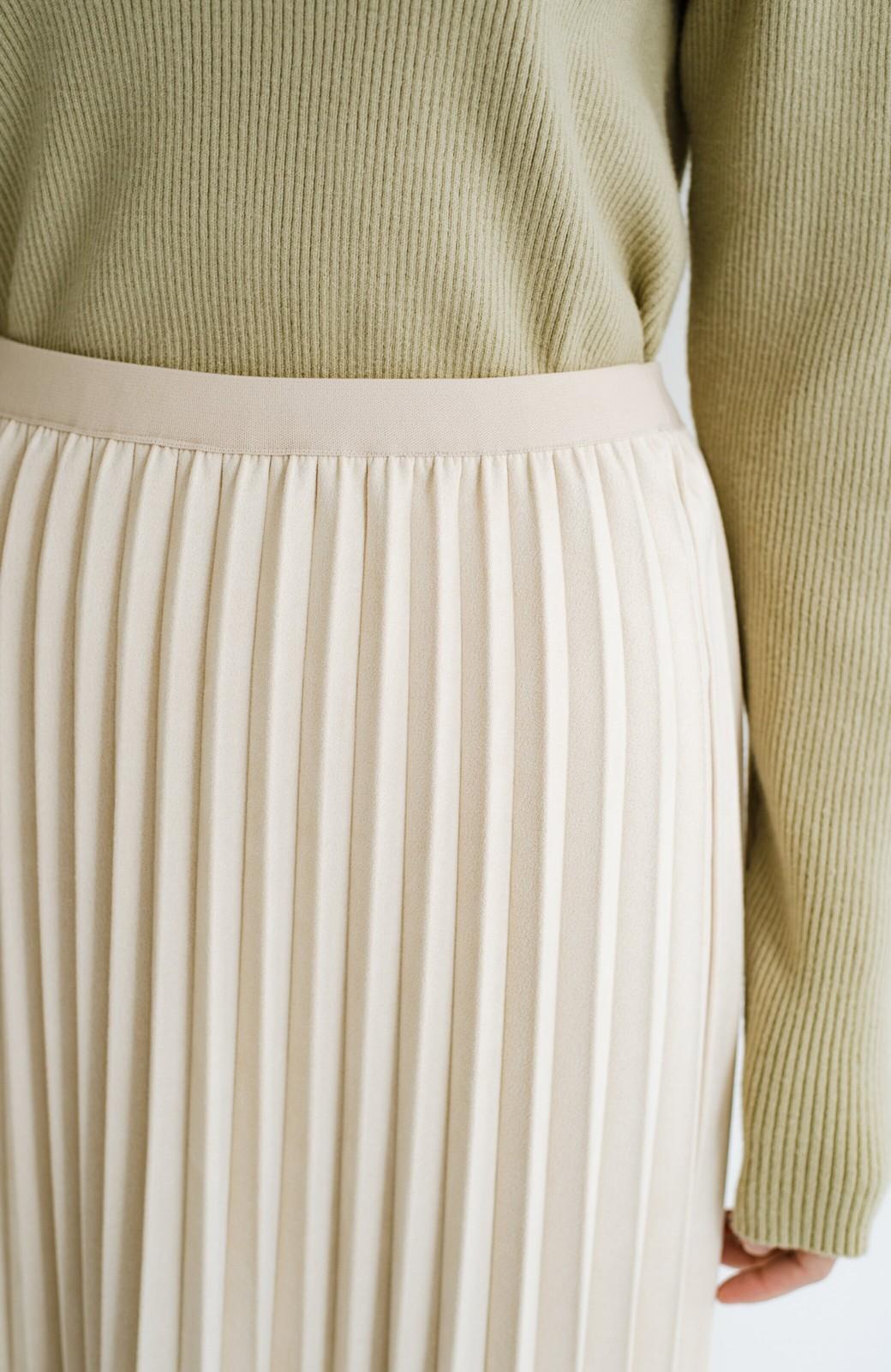 haco! たちまち旬顔!ニットにもスウェットにも似合うフェイクスエードのプリーツスカート by Nohea <アイボリー>の商品写真8