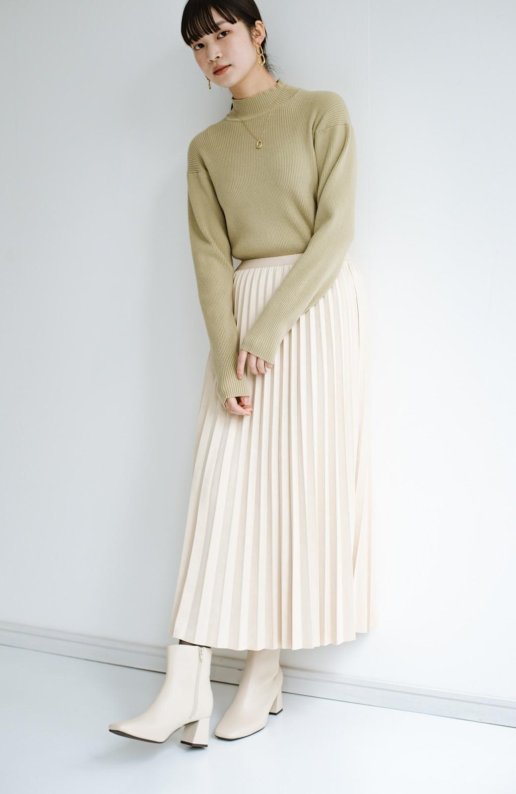 haco! たちまち旬顔!ニットにもスウェットにも似合うフェイクスエードのプリーツスカート by Nohea <アイボリー>の商品写真22