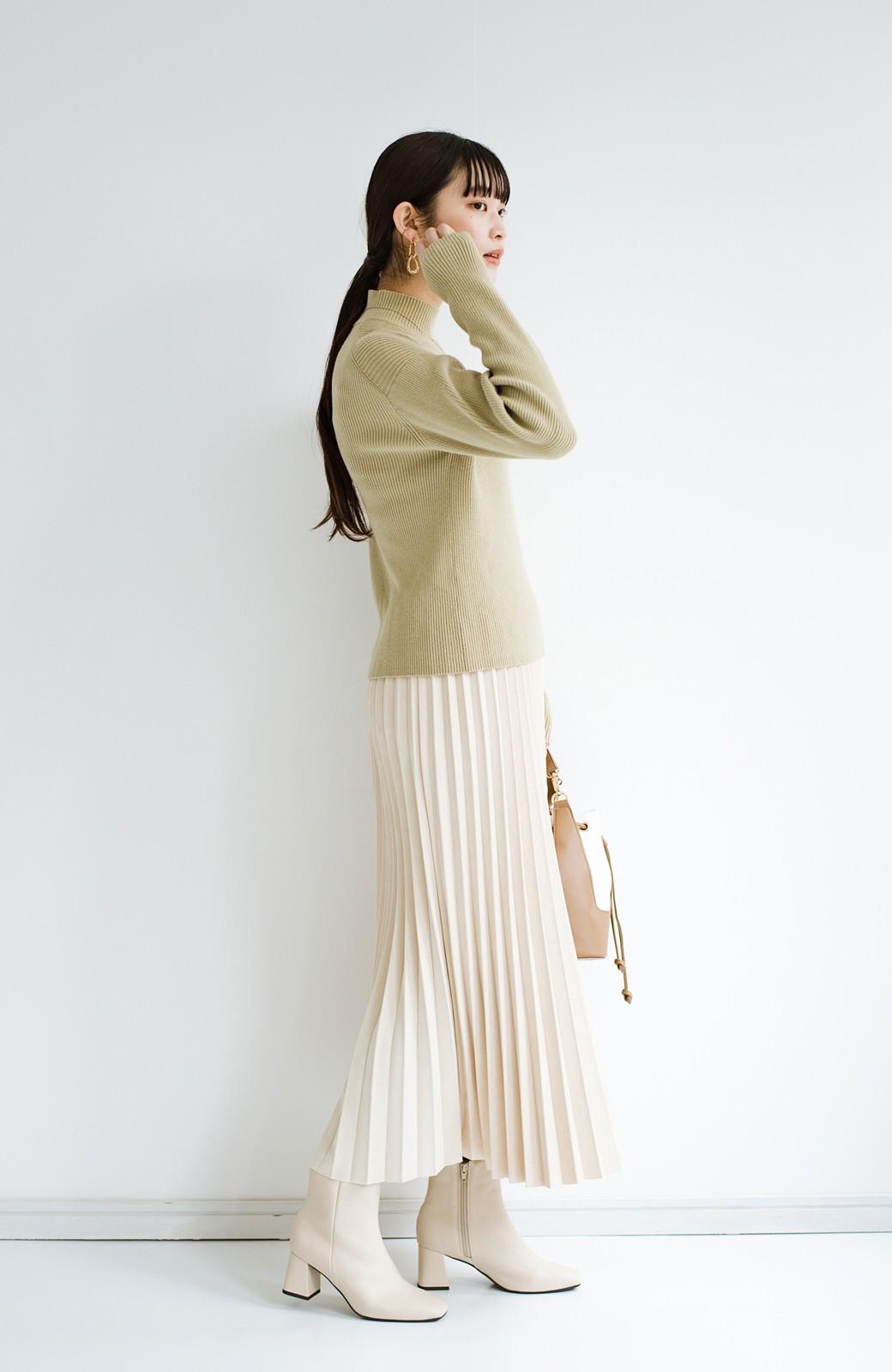 haco! たちまち旬顔!ニットにもスウェットにも似合うフェイクスエードのプリーツスカート by Nohea <アイボリー>の商品写真18