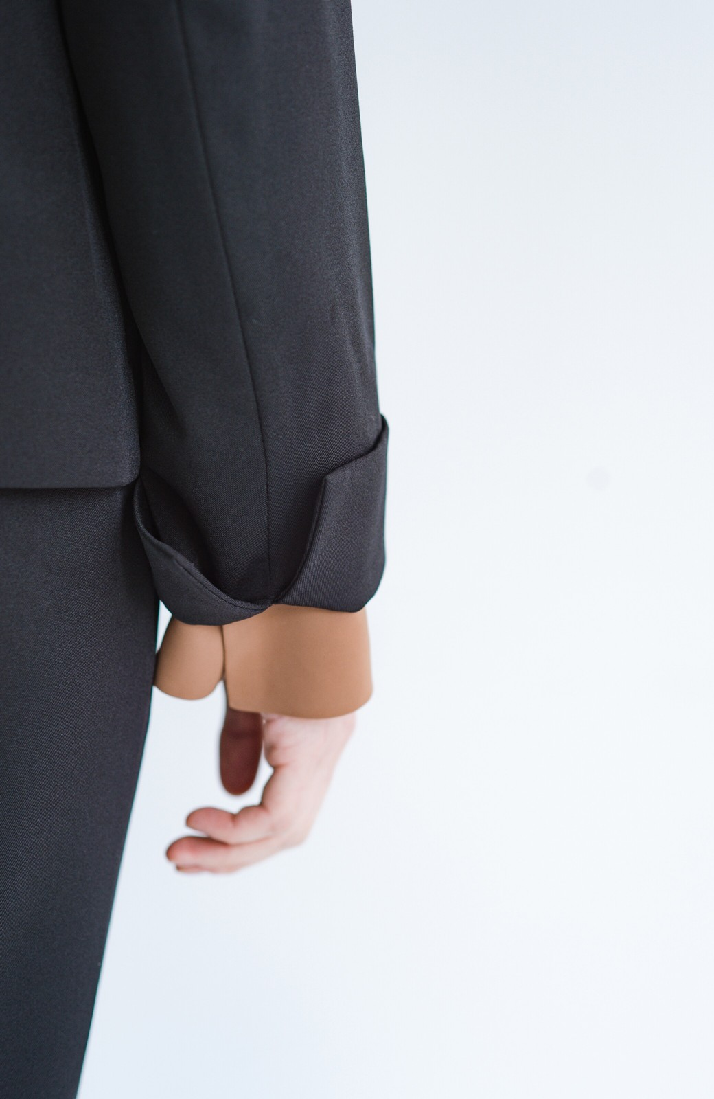 haco! 【シンプル】これさえあればきちんとシーンも怖くない!大人のシンプルジャケット・スカート2点セット <ブラック>の商品写真17