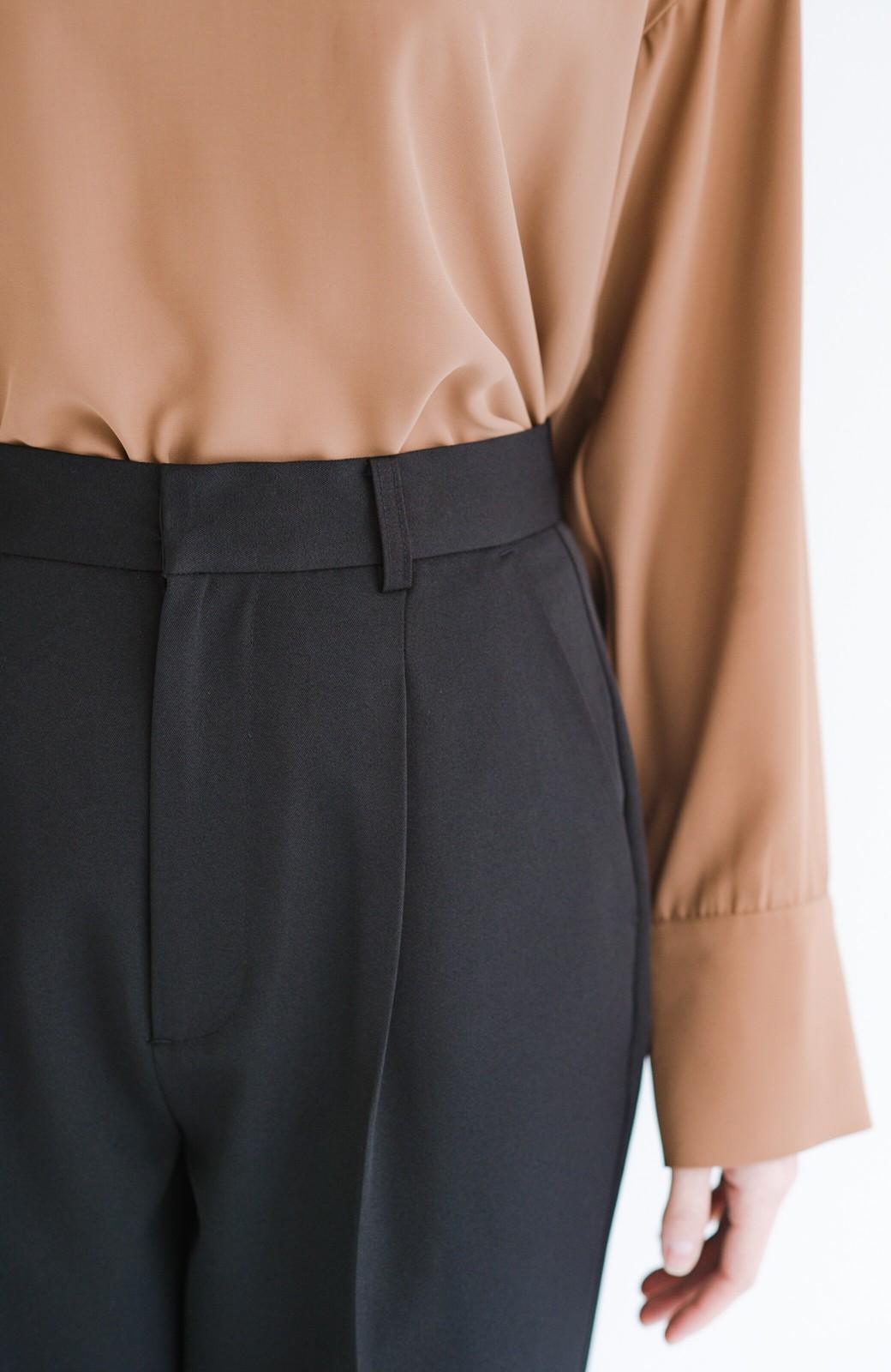haco! 【華やか】これさえあればきちんとシーンも地味すぎない! 大人の華やかジャケット・パンツ・スカート3点セット <ブラック>の商品写真27