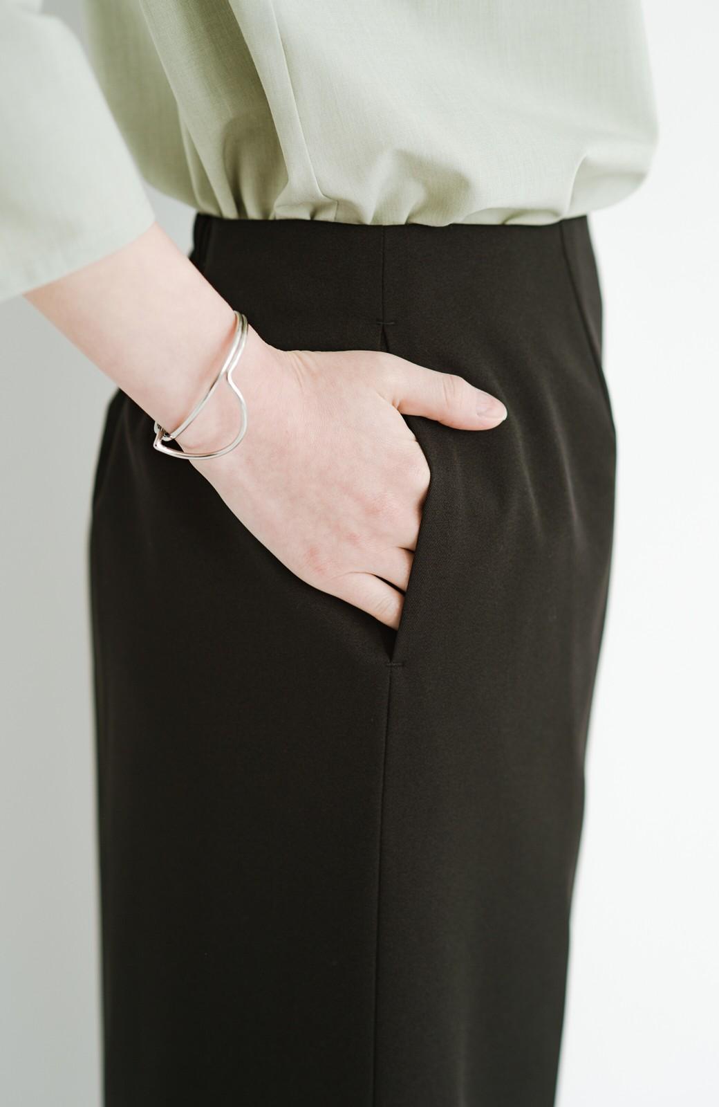 haco! 【華やか】これさえあればきちんとシーンも地味すぎない! 大人の華やかジャケット・パンツ・スカート3点セット <ブラック>の商品写真37