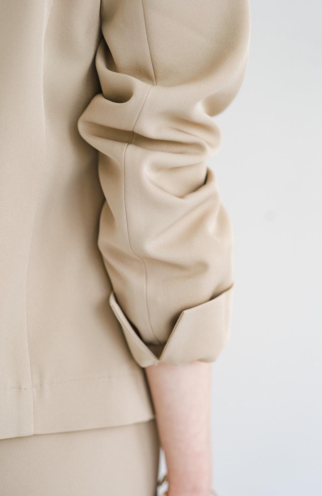 haco! 【シンプル】これさえあればきちんとシーンも怖くない!大人のシンプルジャケット・パンツ・スカート3点セット <ベージュ>の商品写真17