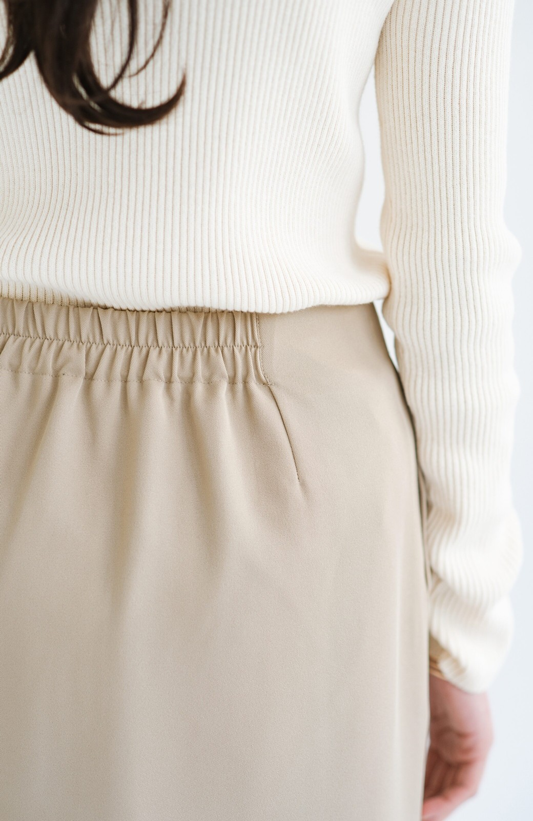 haco! 【シンプル】これさえあればきちんとシーンも怖くない!大人のシンプルジャケット・パンツ・スカート3点セット <ベージュ>の商品写真36
