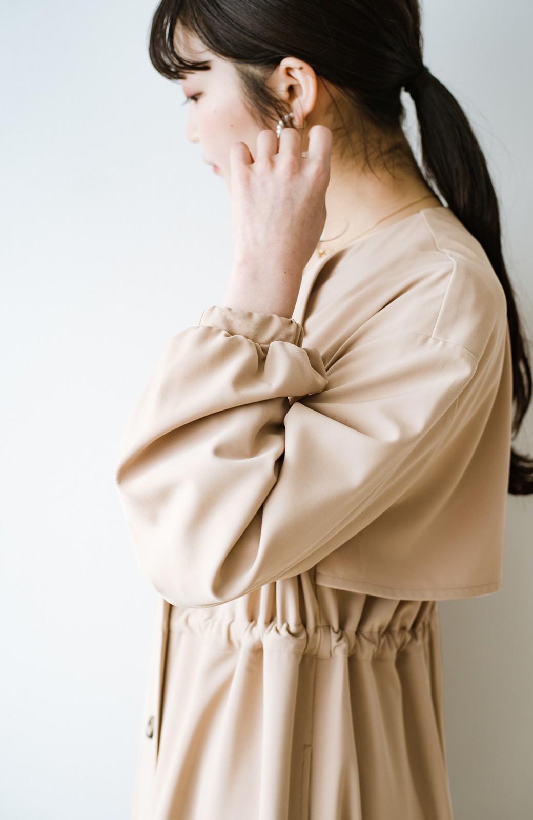 haco! さっと羽織って女っぽさプラス!気分もルンとするやわらか素材のロングコート <ベージュ>の商品写真10