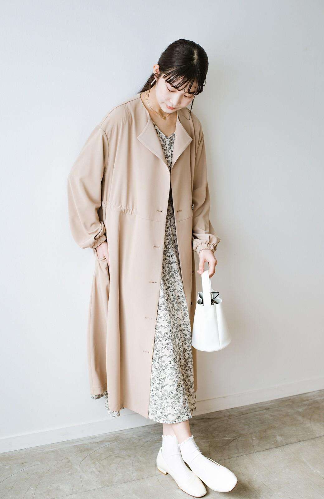 haco! さっと羽織って女っぽさプラス!気分もルンとするやわらか素材のロングコート <ベージュ>の商品写真23