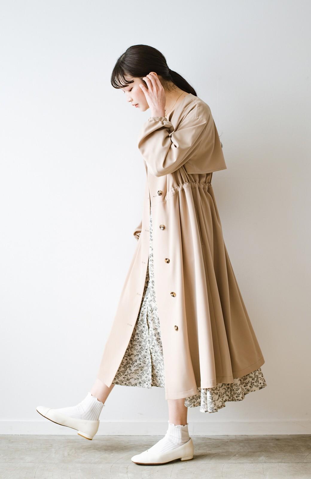 haco! さっと羽織って女っぽさプラス!気分もルンとするやわらか素材のロングコート <ベージュ>の商品写真19