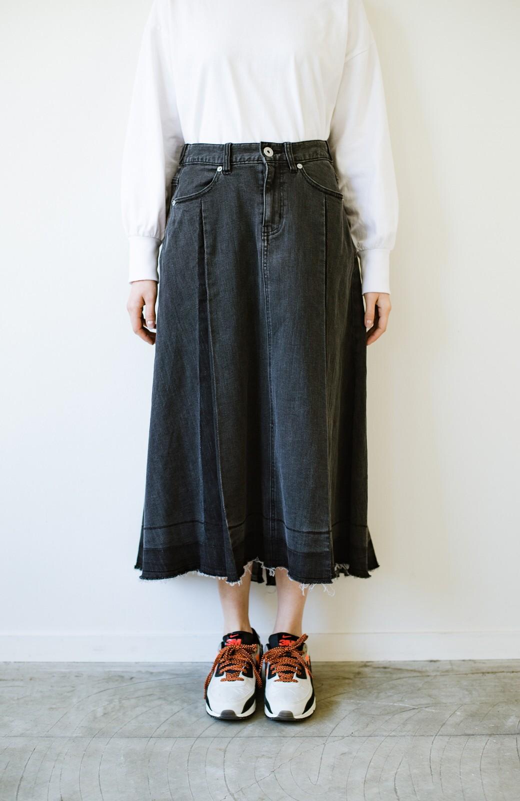 haco! 【新色登場&再入荷!】デニムパネルプリーツスカート <ブラック>の商品写真13