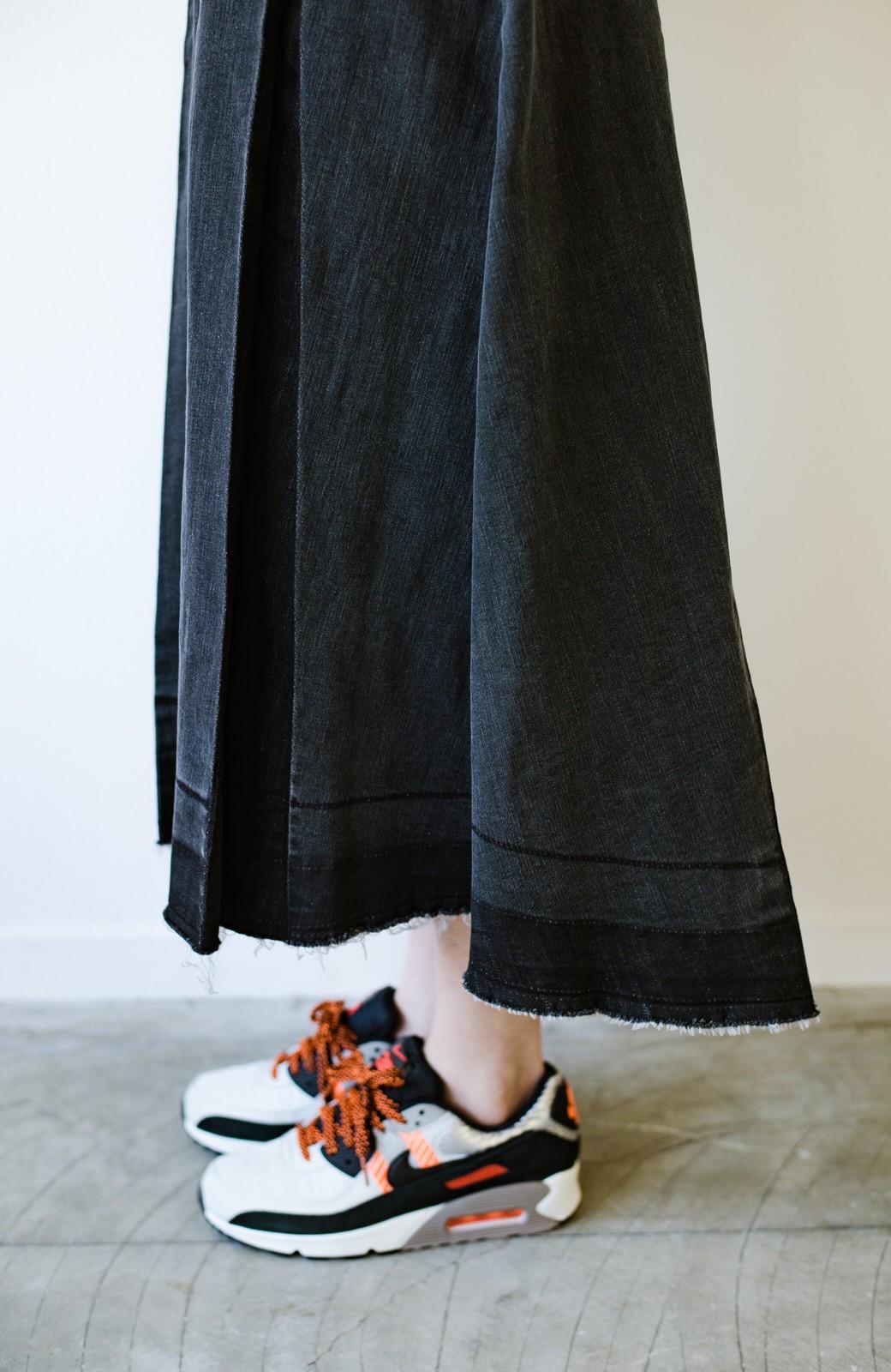 haco! 【新色登場&再入荷!】デニムパネルプリーツスカート <ブラック>の商品写真20