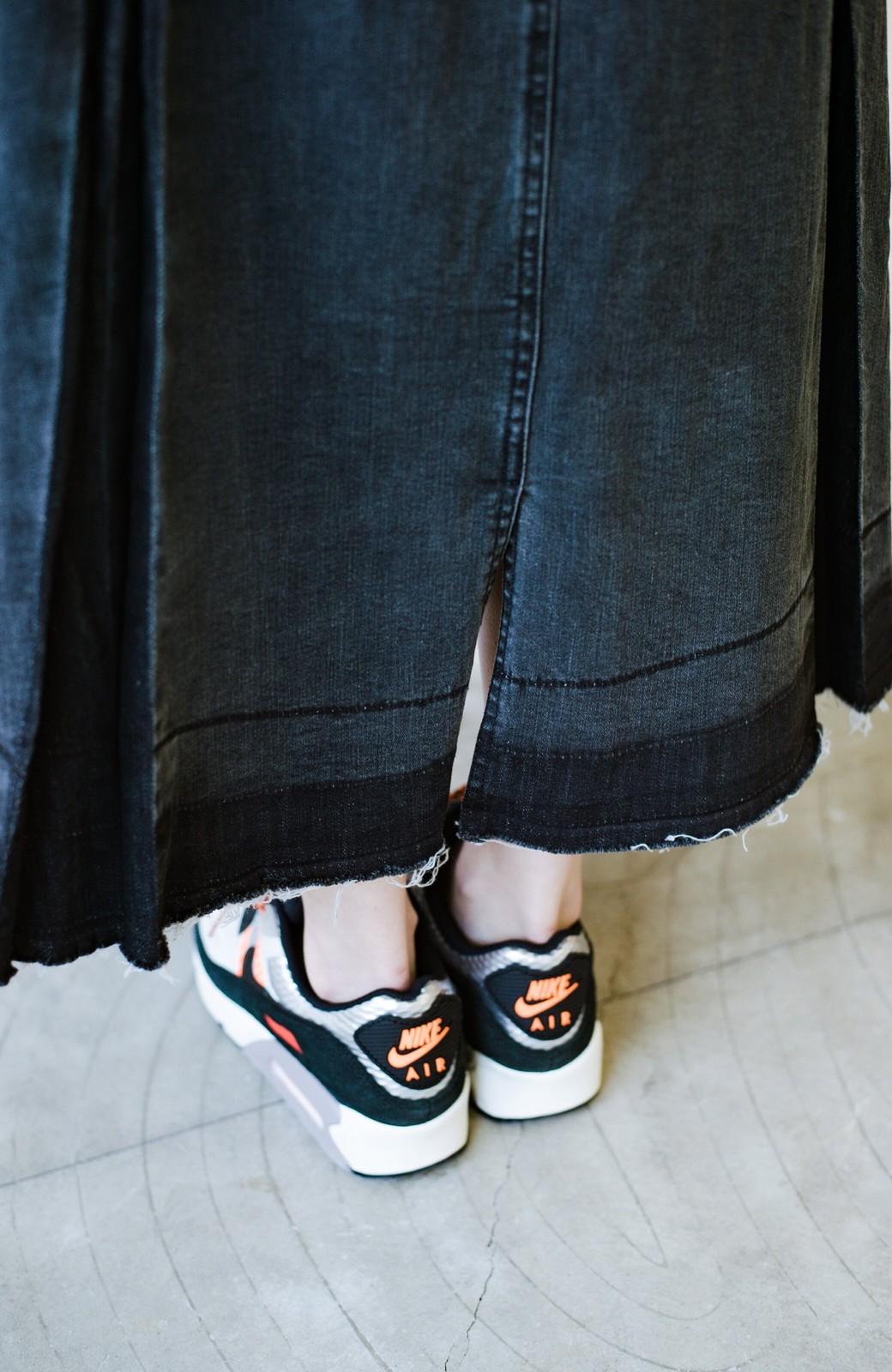 haco! 【新色登場&再入荷!】デニムパネルプリーツスカート <ブラック>の商品写真19