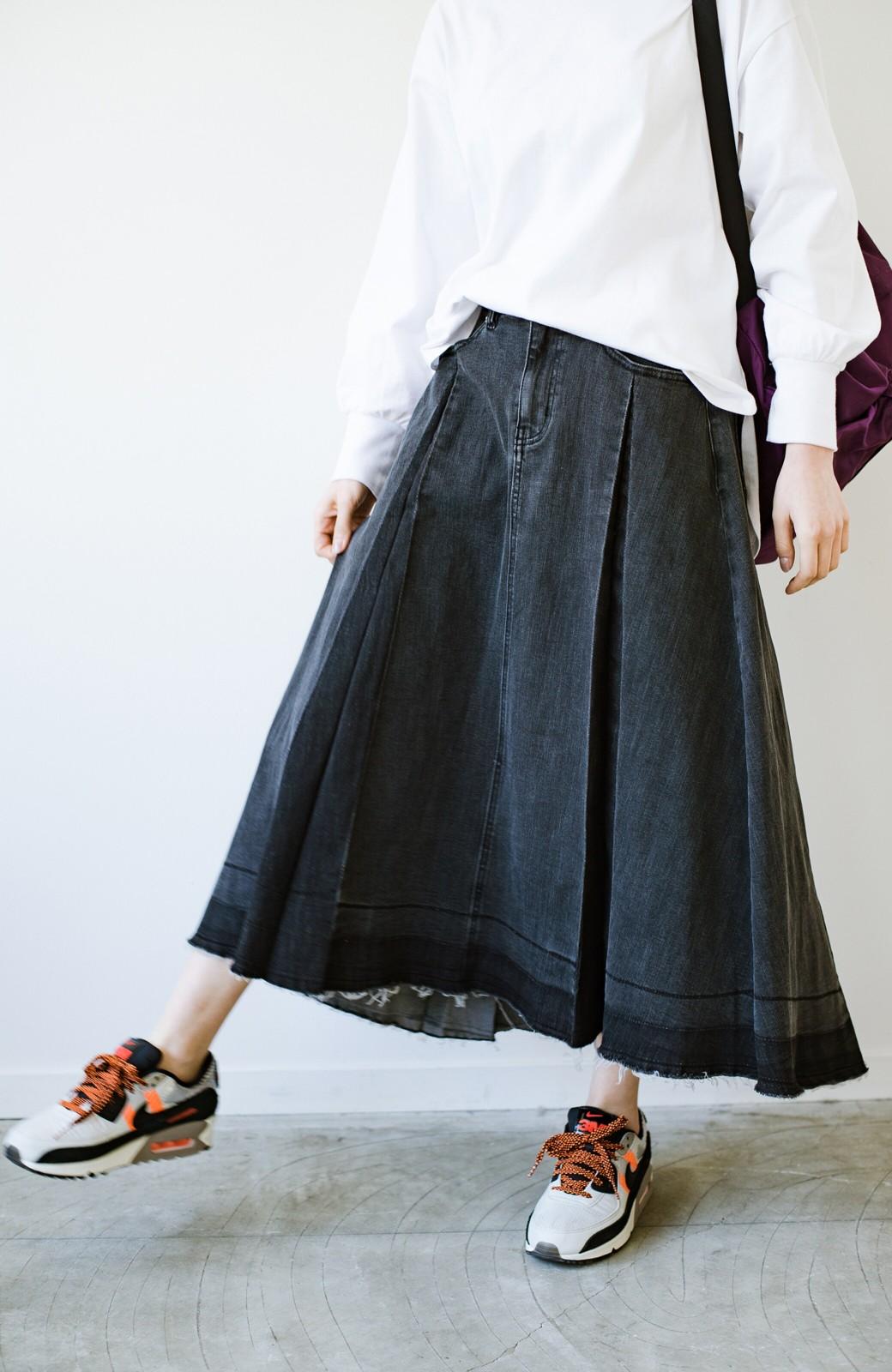 haco! 【新色登場&再入荷!】デニムパネルプリーツスカート <ブラック>の商品写真27