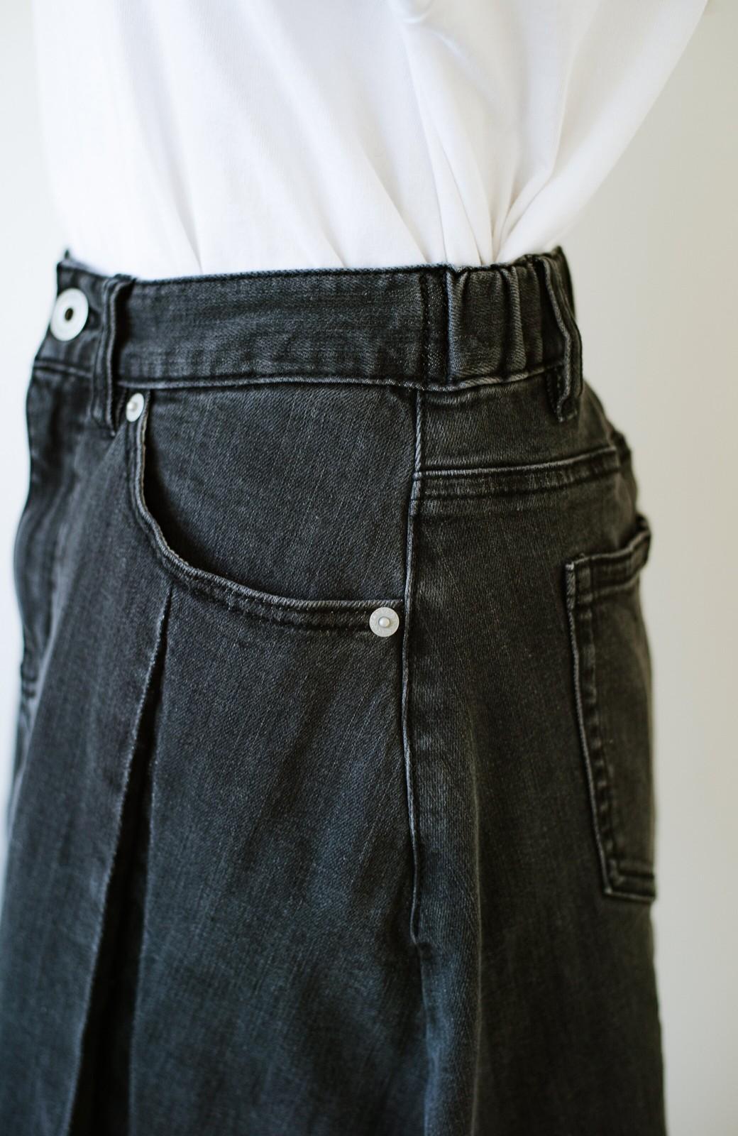 haco! 【新色登場&再入荷!】デニムパネルプリーツスカート <ブラック>の商品写真17