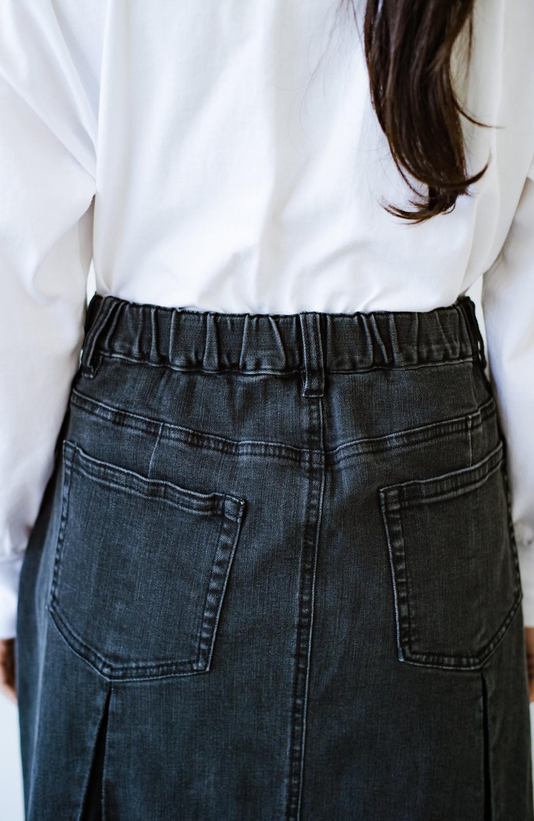 haco! 【新色登場&再入荷!】デニムパネルプリーツスカート <ブラック>の商品写真16