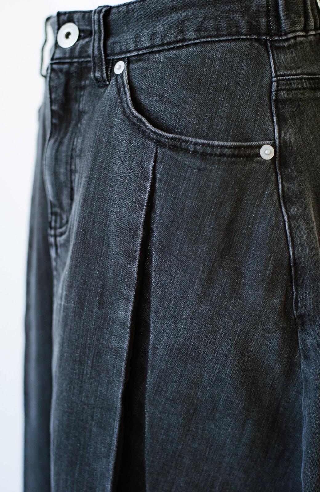 haco! 【新色登場&再入荷!】デニムパネルプリーツスカート <ブラック>の商品写真18