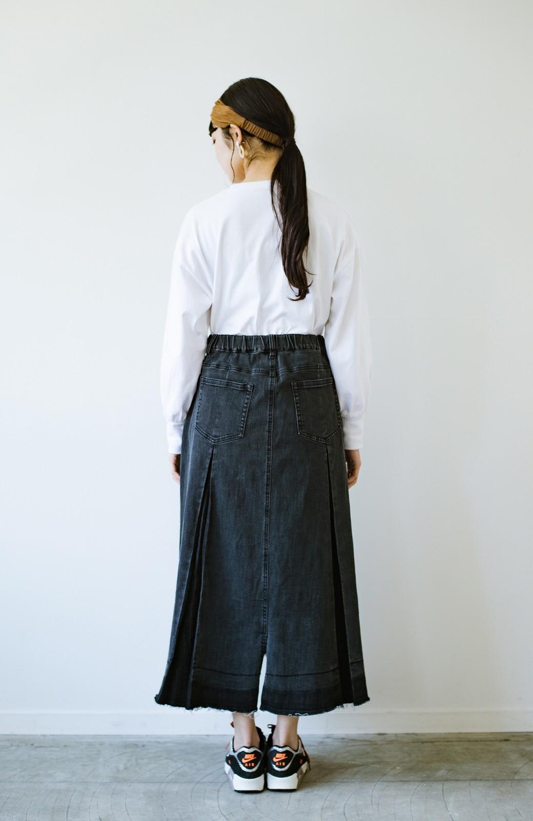haco! 【新色登場&再入荷!】デニムパネルプリーツスカート <ブラック>の商品写真12