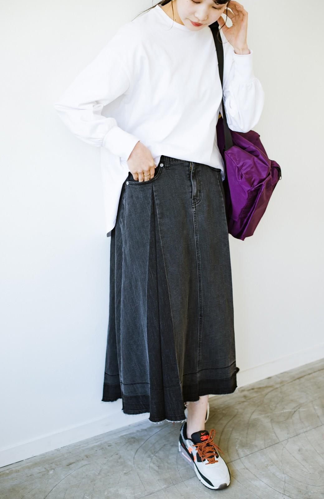 haco! 【新色登場&再入荷!】デニムパネルプリーツスカート <ブラック>の商品写真26