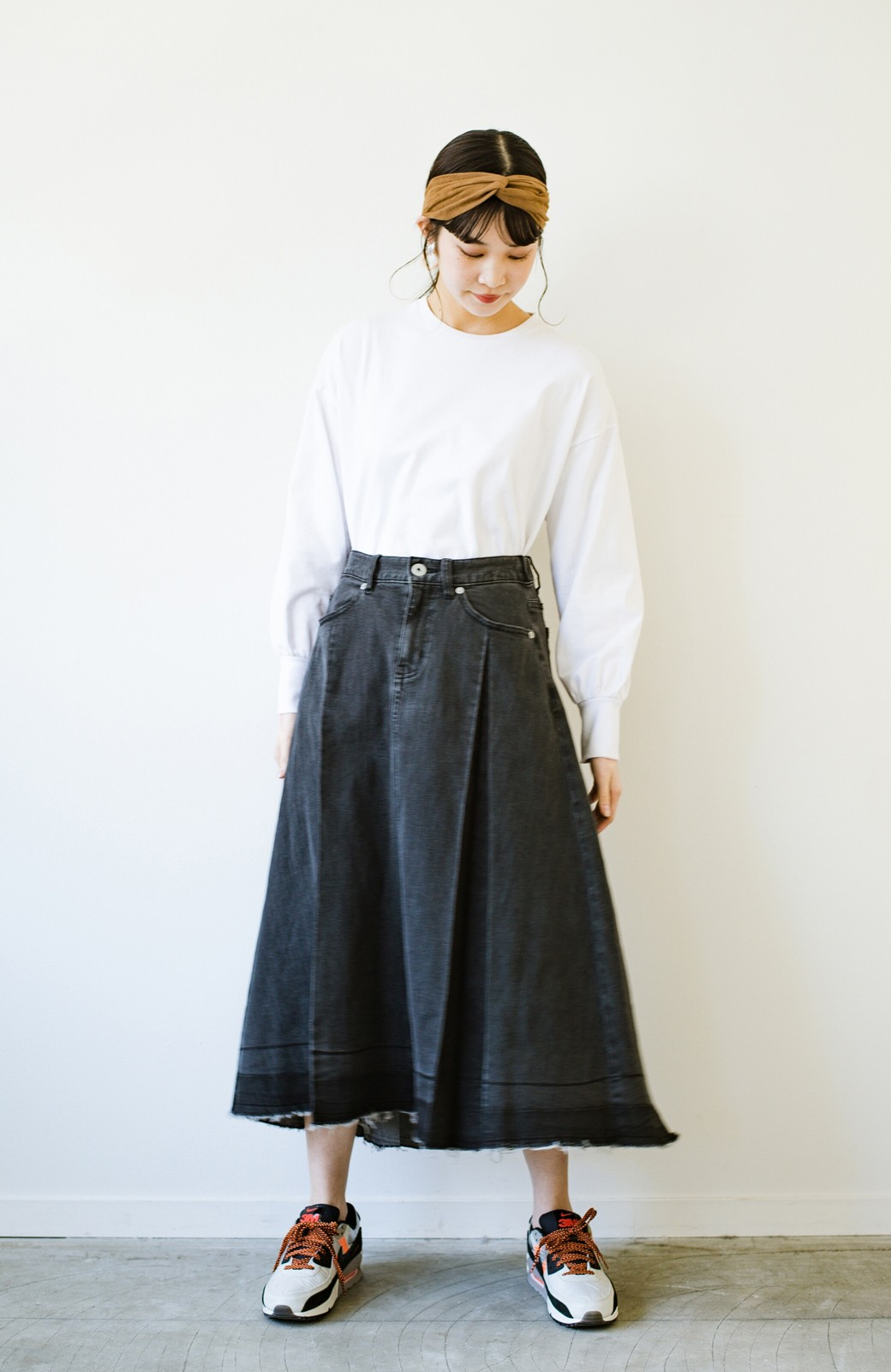 haco! 【新色登場&再入荷!】デニムパネルプリーツスカート <ブラック>の商品写真23