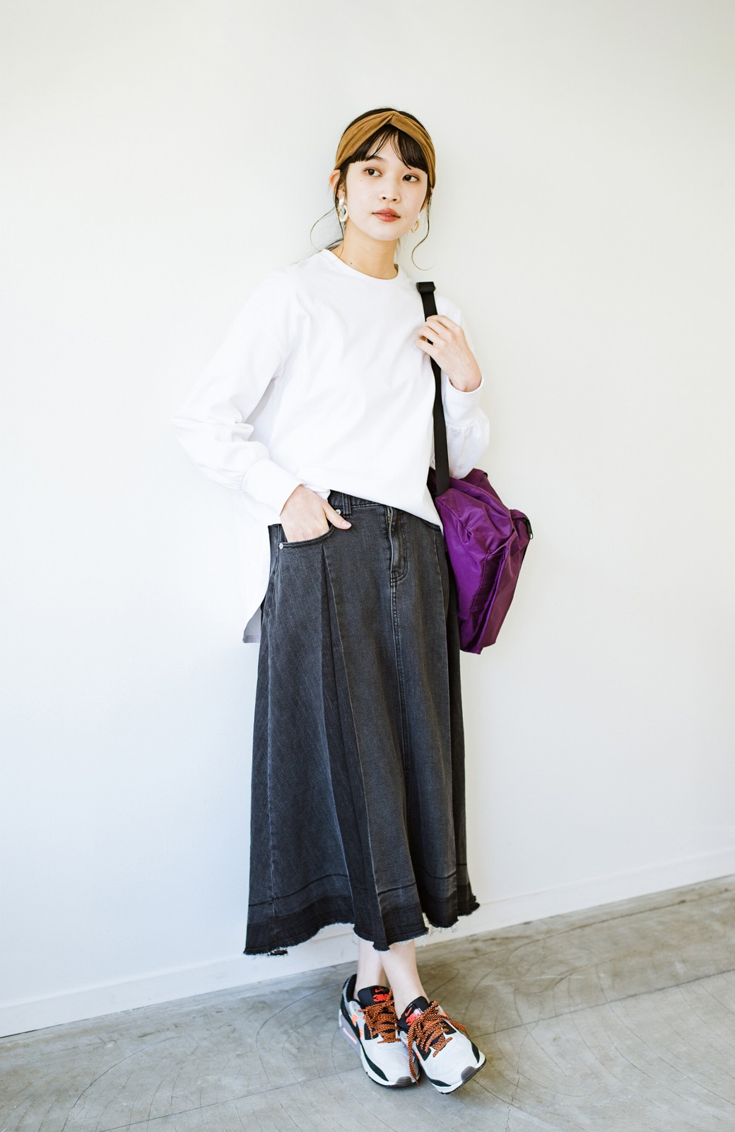 haco! 【新色登場&再入荷!】デニムパネルプリーツスカート <ブラック>の商品写真22