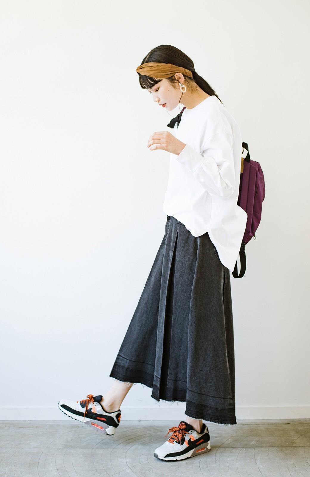 haco! 【新色登場&再入荷!】デニムパネルプリーツスカート <ブラック>の商品写真11
