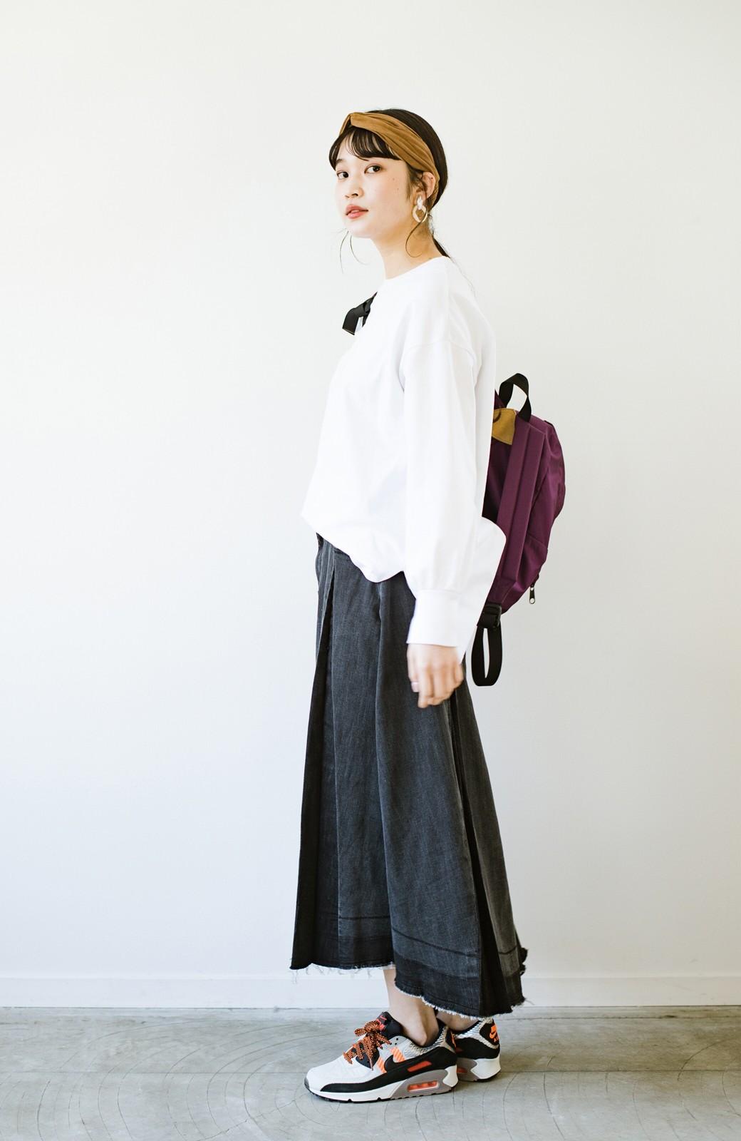 haco! 【新色登場&再入荷!】デニムパネルプリーツスカート <ブラック>の商品写真25