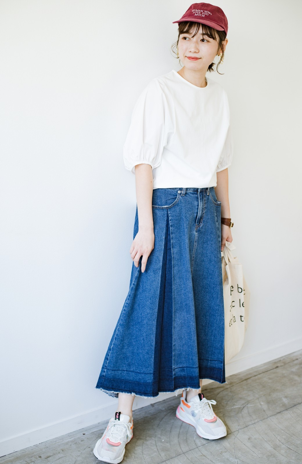 haco! 【新色登場&再入荷!】デニムパネルプリーツスカート <ブルー>の商品写真21