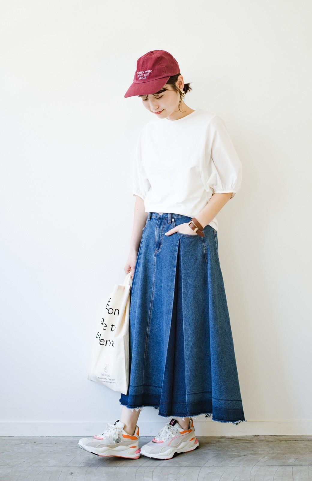 haco! 【新色登場&再入荷!】デニムパネルプリーツスカート <ブルー>の商品写真11
