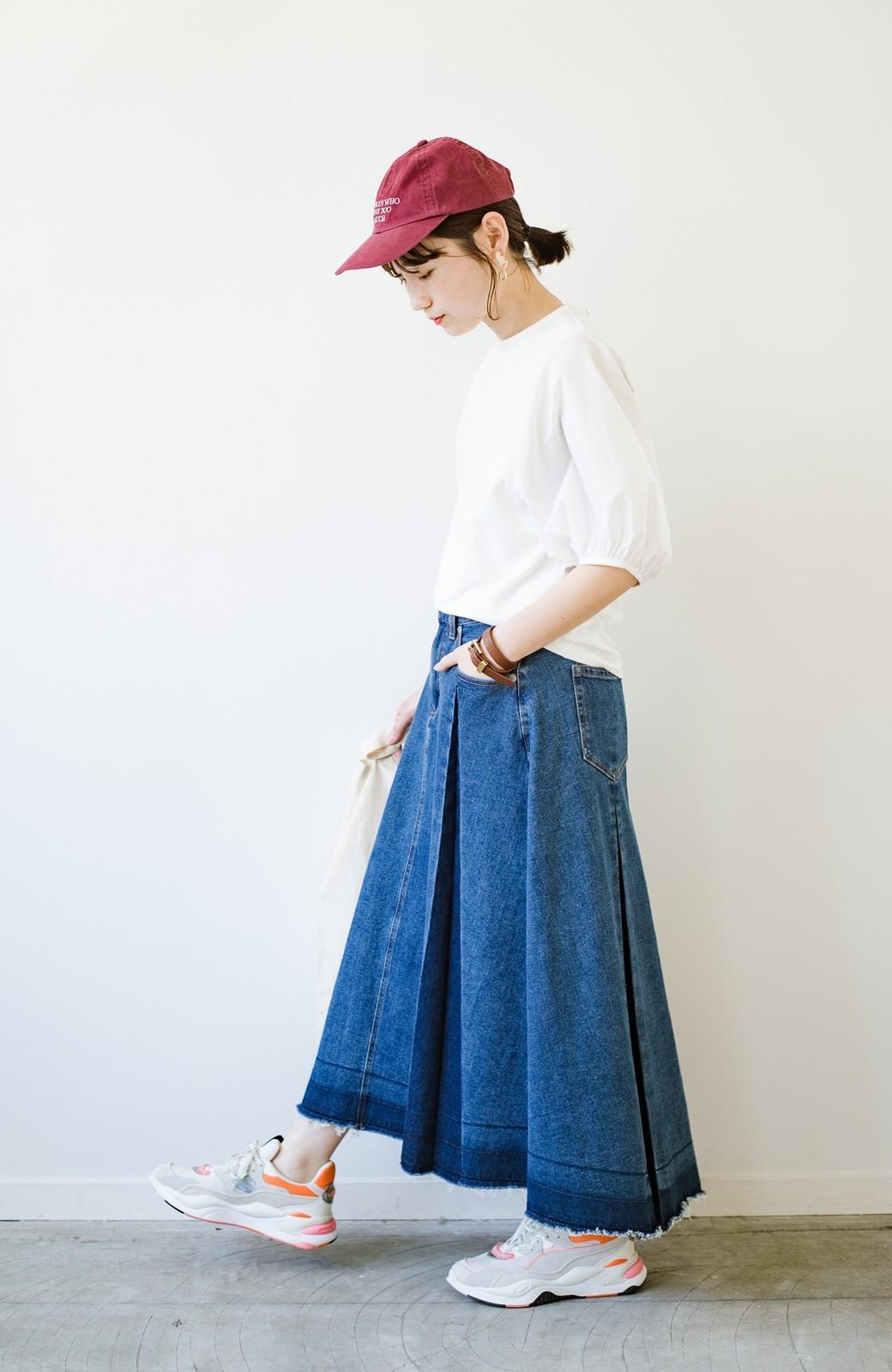 haco! 【新色登場&再入荷!】デニムパネルプリーツスカート <ブルー>の商品写真20