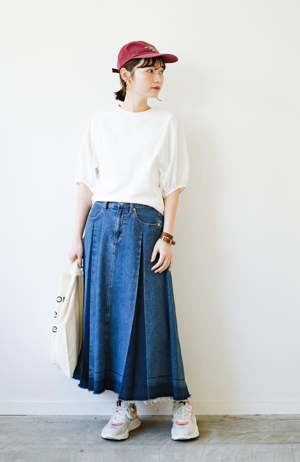 haco! 【新色登場&再入荷!】デニムパネルプリーツスカート <ブルー>の商品写真31