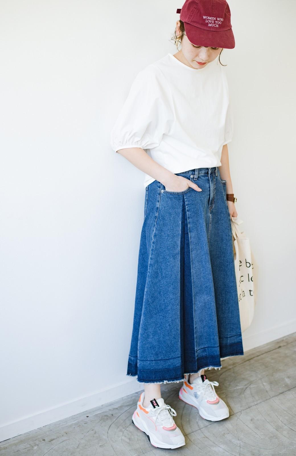 haco! 【新色登場&再入荷!】デニムパネルプリーツスカート <ブルー>の商品写真32