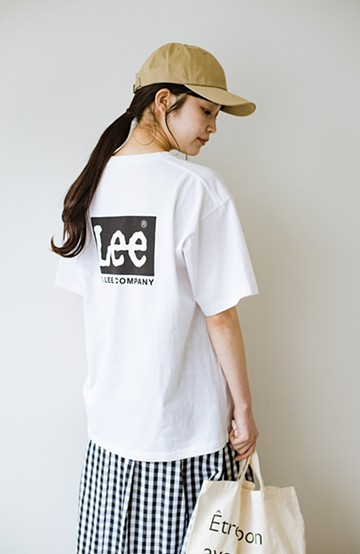 haco! Lee  こなれた風合いのバッグプリントロゴTシャツ <ホワイト系その他>の商品写真