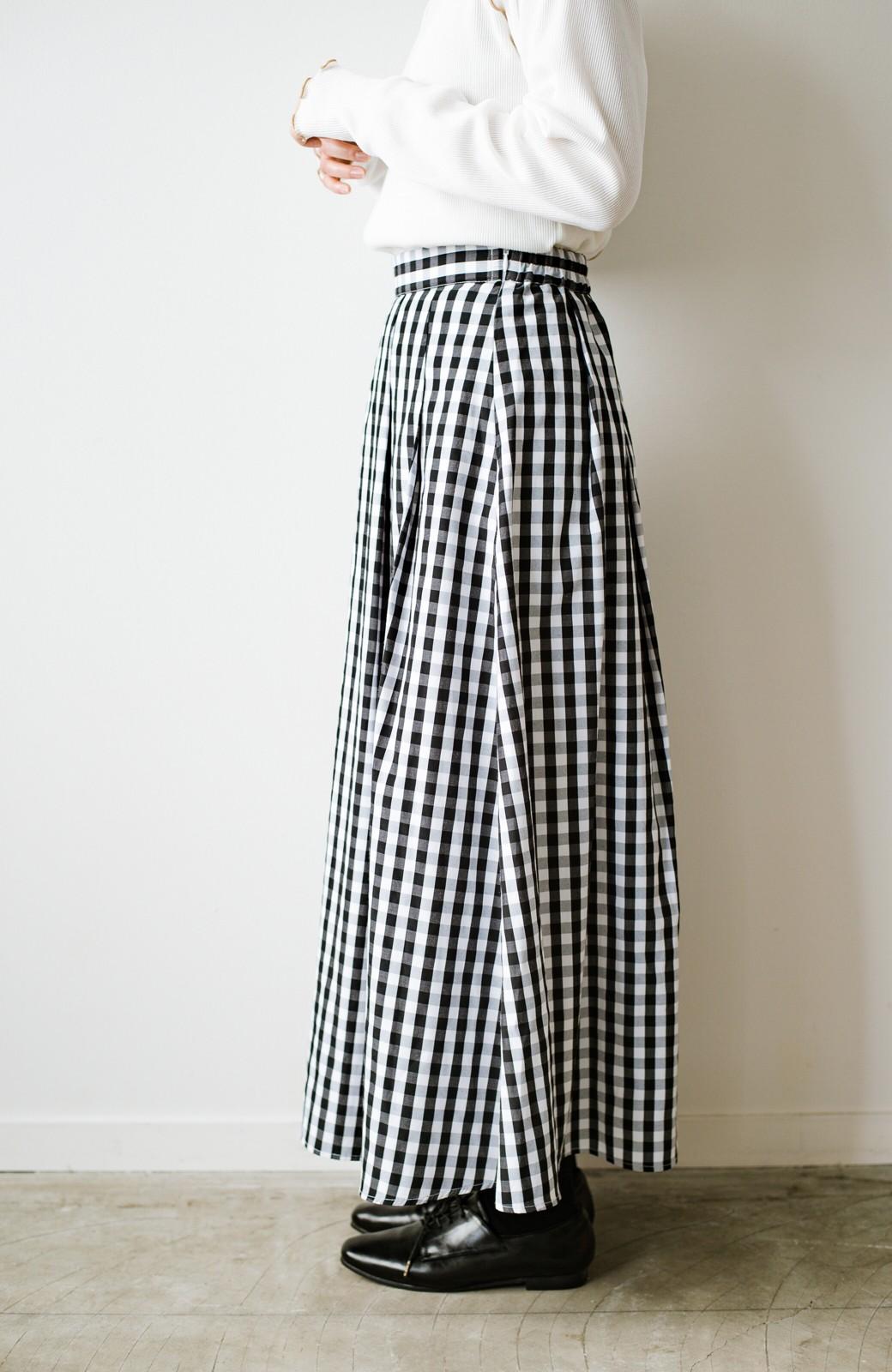 haco! カジュアルトップスと合わせても女っぽがかなう!気になる何もかもを隠してくれるマキシスカート by que made me <チェック>の商品写真8